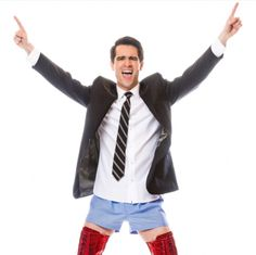 Brendon Urie as Charlie Price in the Broadway Show Kinky Boots