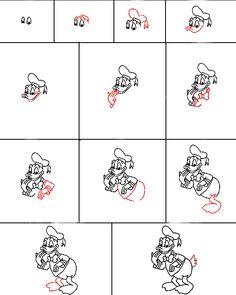 Hoe teken je Donald Duck