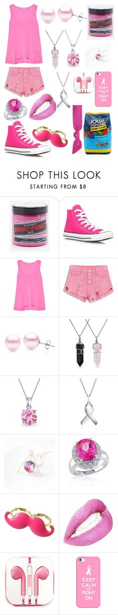 """""""Watermelon"""" by mk-masters ❤ liked on Polyvore featuring Manic Panic, Converse, Splendid, Suzy Levian, Bling Jewelry, BERRICLE, Belk & Co., PhunkeeTree, Casetify and Hard Candy"""
