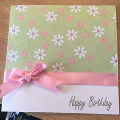 Floral Happy Birthday - Simple Card Design