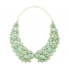Vintage inspired mint bib necklace. Gorg! #mintobsessed