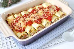 Wij zijn gek op Italiaans eten, dus daarom delen we vandaag weer een Italiaans geïnspireerd recept: cannelloni met ricotta en pesto. Super lekker!