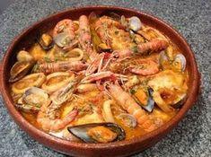 Zarzuela de pescados y #mariscos. Ver receta: http://www.mis-recetas.org/recetas/show/46955-zarzuela-de-pescados-y-mariscos
