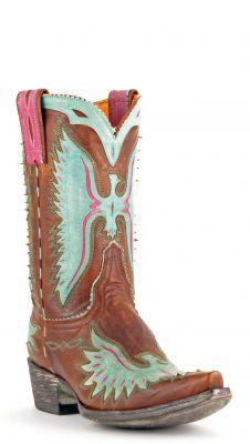 Old Gringo Eagle Boots Brass And Aqua via @Allen & Cheryl Smith Boots