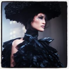 Beautiful @sui_he at #garethpugh - check out the show today on models.com