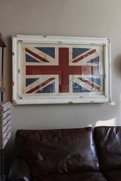 Union Jack in Museum Frame
