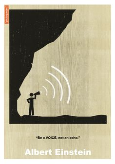 """""""Be a voice, not an echo. Signs Of Intelligence, Wise Person, Proverbs Quotes, Einstein Quotes, Pictogram, Inspirational Thoughts, Albert Einstein, Beautiful Words, Sentences"""