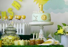 """We Heart Parties: """"You Are My Sunshine"""" 1st Birthday Party"""