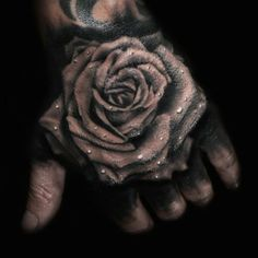 Black and grey rose hand jammer by Todd Bailey