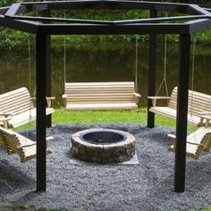 Awesome Summer DIY Project – Build Swings Around a Campfire