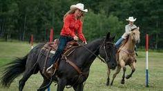 Amy and Georgie racing