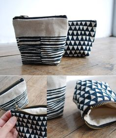 small black and white bags