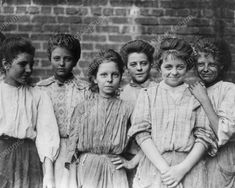 Young Girl Child Labor Workers Vintage 8x10 Reprint Of Old Photo