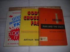 3 Bks on religion ; God's Answer to Fat, God's Chosen Fast, Man and the State