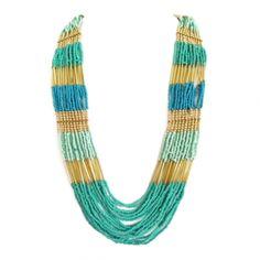 Collar tipo egipcio coral