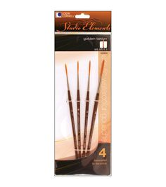 Loew-Cornell 1024910 Studio Elements Short Handle Golden Taklon Script Liner Brush Set, Hair select outstanding quality and durability Short handle set Nickel-plated ferrule pronounced secure crimp Arts And Crafts Supplies, Diy Arts And Crafts, Kid Crafts, Thing 1, Artist Brush, Fairy Dolls, Dolls Dolls, Online Craft Store, Paint Brushes