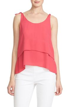 CeCe by Cynthia Steffe Tie Shoulder Tiered Tank available at #Nordstrom