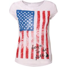 American Flag T-Shirt ($12) ❤ liked on Polyvore featuring tops, t-shirts, shirts, blusas, haut, pink shirt, american flag eagle t shirt, american flag tee, pink tee and usa flag shirt