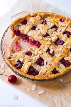 Sweet Cherry Pie with Toasted Almonds | Sally's Baking Addiction