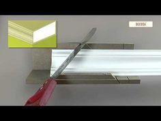 Gehrungschneiden von DECOSA® Zierprofilen - YouTube
