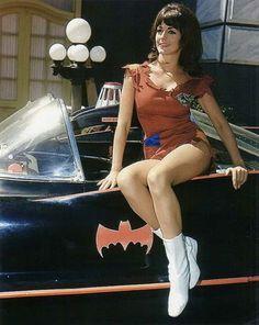 Sherry Jackson on The Batmobile