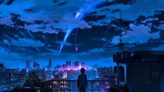 Your Name Wallpaper, Wallpaper Pc Anime, Wallpaper Animes, Anime Backgrounds Wallpapers, Aesthetic Desktop Wallpaper, Anime Scenery Wallpaper, Live Wallpapers, Animes Wallpapers, 1080p Wallpaper