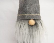 felt christmas gnome nordic nisse swedish by thelittlegreenbean Christmas Gnome, Retro Christmas, Christmas Crafts, Christmas Ideas, Quilted Ornaments, Felt Ornaments, Swedish Tomte, Gnome Hat, Scandinavian Gnomes