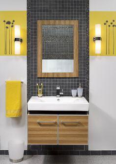 Rejuvenate your #bathroom without emptying your wallet by changing your light #fixtures. | Donnez de l'éclat à votre salle de bains à faible prix en changeant vos #luminaires. #salledebains #decoration