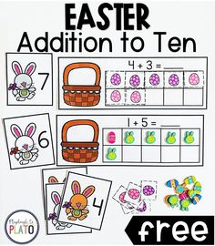 This addition game is going to be great for my math centers. It's an awesome math station for kindergarten or first grade. #kindergartenmath #firstgrademath #mathstation #mathcenter