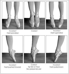 feet en pointe