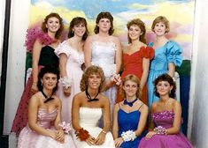 80s Costume Party Ideas, Prom Queen - vintage dress, big hair, dyed-to-match shoes, lots of baby's breathe.  Fun!