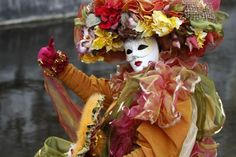Venetian carnival parade in Annecy, France