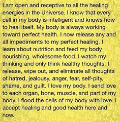 Healing affirmation #affirmations