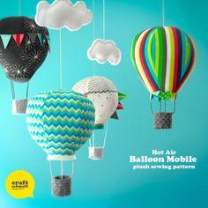 Hot Air Balloon Mobile Pattern