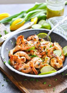 A Honey Lime Grilled Shrimp Marinade makes a perfect healthy seafood dinner! Clean Eating Recipes, Healthy Dinner Recipes, Healthy Snacks, Healthy Eating, Paleo Dinner, Healthy Mind, Breakfast Recipes, Lime Shrimp Recipes, Seafood Recipes
