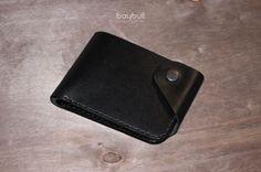 Купить Портмоне Хантер мини Антрацит - черный, портмоне, портмоне из кожи, портмоне ручной работы