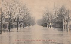 Another look at E. Second during the 1913 flood.