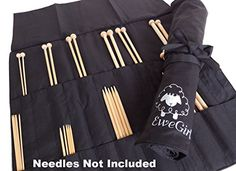 EweGirl by della Q Straight and DPN Needle Case 205 in H x 16 in W 100 Black EG2011100 *** Find out more about the great product at the image link.Note:It is affiliate link to Amazon.