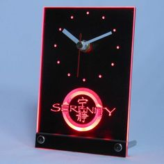 Cheap desk table clock, Buy Quality desk clock led directly from China clock led Suppliers: Firefly Serenity Table Desk LED Clock