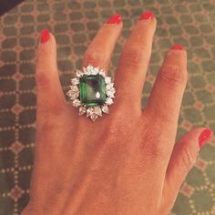 What an incredible ring by @takat786. Can't even formulate a complete thought.  #latergram #LuxuryPrive #emerald  #awed #whoa