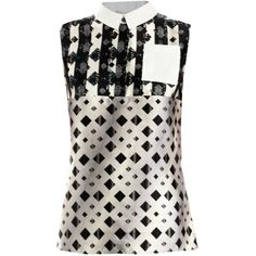 Peter Pilotto Michon geometric dotty-print shirt ($920) ❤ liked on Polyvore