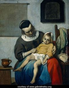 The Sick Child c. 1660  Gabriel Metsu