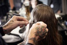 Paris Fashion Week F/W Show: Carven Hairstylist : James Pecis © Thibaut de Saint Chamas / Firstview L'Oréal Professionnel Fashion Week, Paris Fashion, L'oréal Professionnel, Carven, Ear, Tattoos, Tatuajes, Tattoo, Tattos
