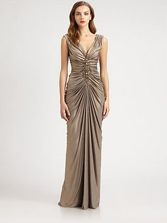 From Saks Fifth Avenue Tadashi Shoji Metallic Jersey Dress This Is The Gown I