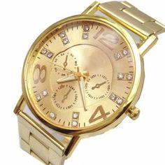 c18568a3210 ... montre femme gold Suppliers  Geneva Alloy Strap Gold Ladies Quartz  Watch Relojes Hombre 2017 Montre Femme Relogio Feminino Dourado Women  Watches Montre