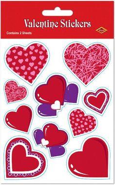 Valentine Stickers Case Pack 12