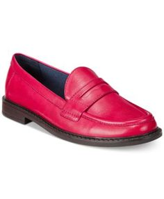 Classic chic. These Pinch campus loafers by Cole Haan take you from the boardroom to lunch and back in timeless style. | Leather upper; rubber sole | Imported | Round closed-toe slip-on loafers  | 1/4