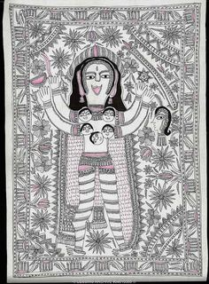 Mithila drawing. Unknown Artist.