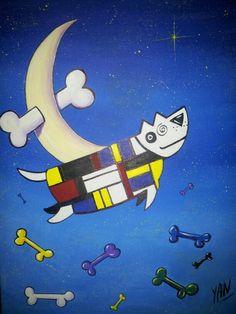Mondrian's dog by Yan
