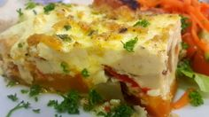 Chicken and butternut frittata